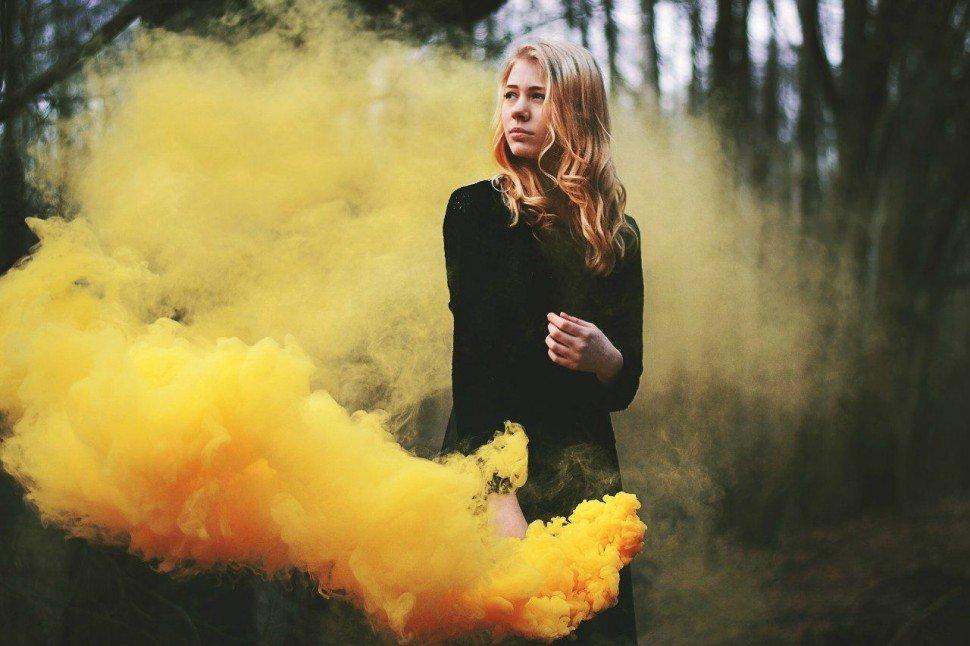 качестве фото с цветным дымом идеи это оптическое